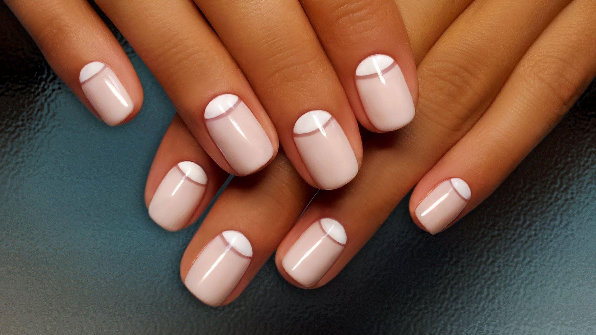 Дизайн ногтей с лункой фото гель лак