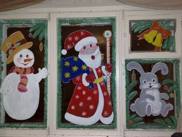 Новогодние картинки на окне рисовать, свидание картинках