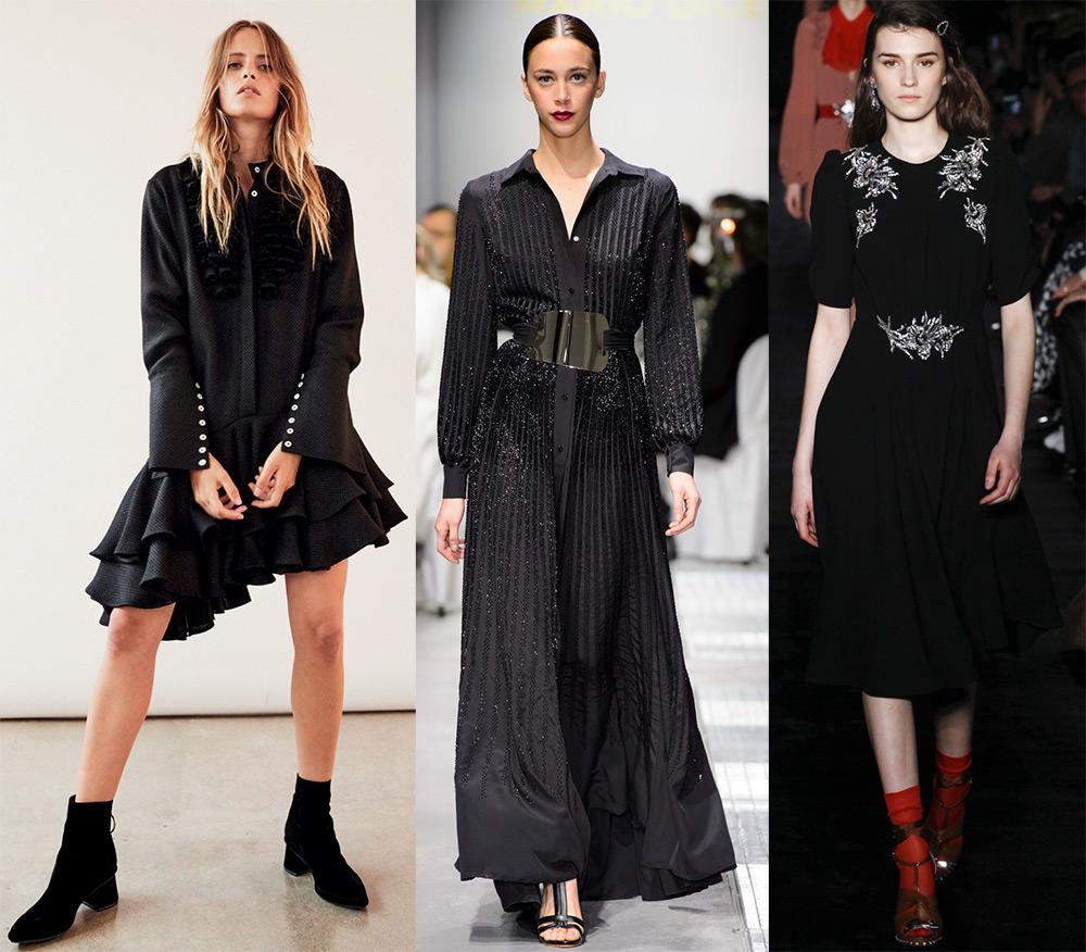 09086b51fcf 100 модных новинок  Черное платье 2018 - с чем носить