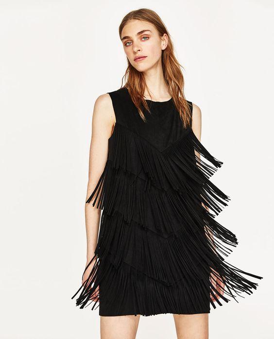 3b3b1430309 100 модных новинок  Платье с бахромой 2018 - с чем носить на фото
