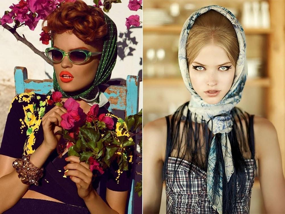 gollivudskiy_shik-1 Как завязать платок на шее разными способами и как красиво повязать шарфик на плечах