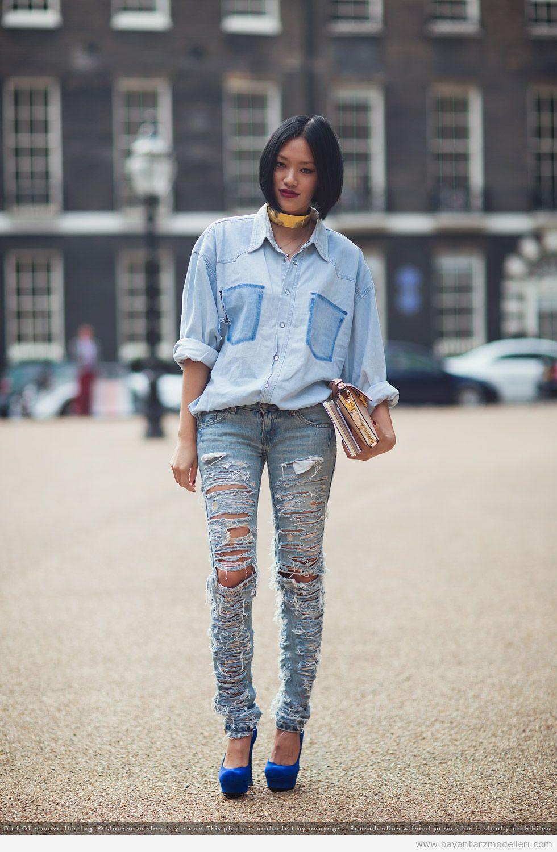 Moda ipuçları: Bir kot gömlek ile ne giyilir