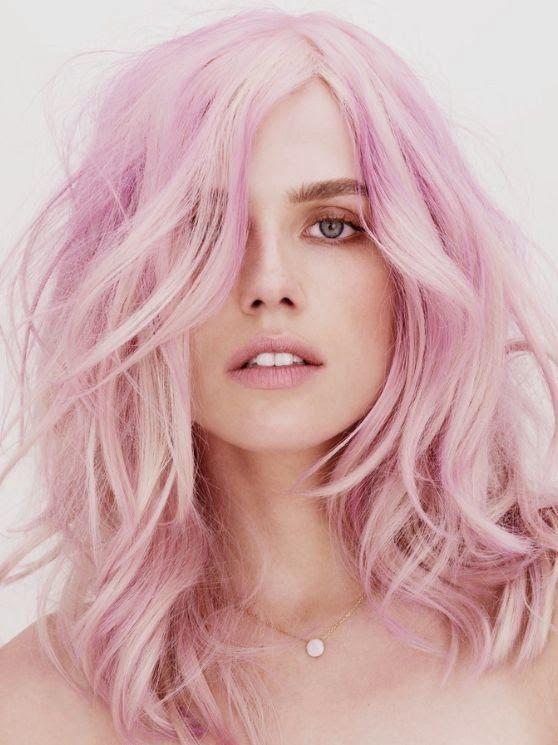 Пепельно розовый цвет волос фото звезд дну керченского