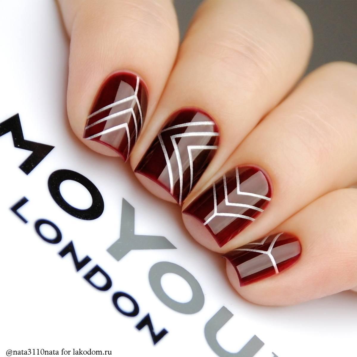 Геометрический маникюр - фото идей дизайна ногтей - Best 65