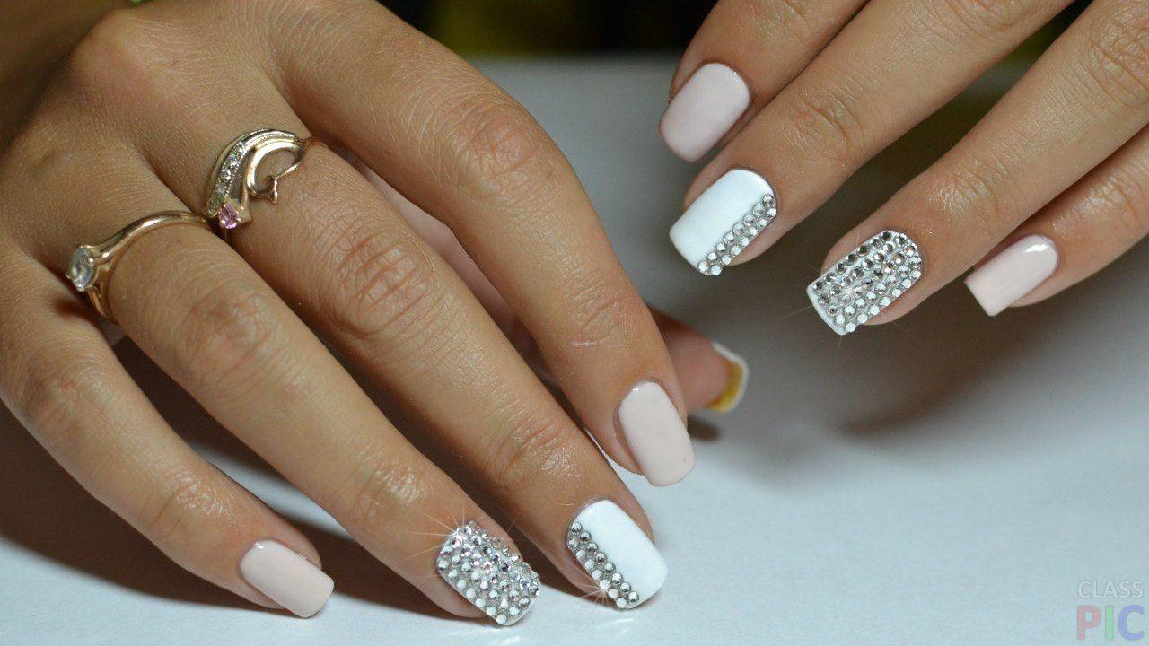 25 модных новинок: Маникюр и дизайн ногтей со стразами 25 ...