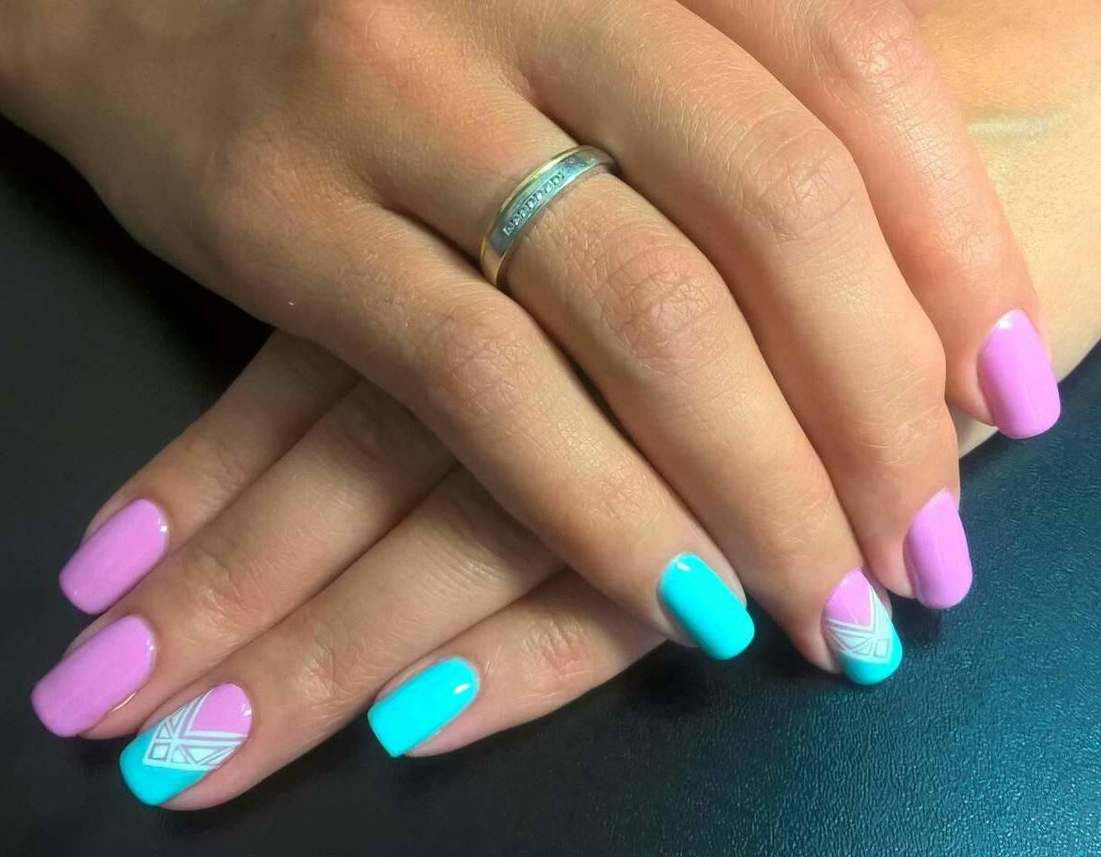 Ногти Покрытые Гель Лаком Фото С Рисунком