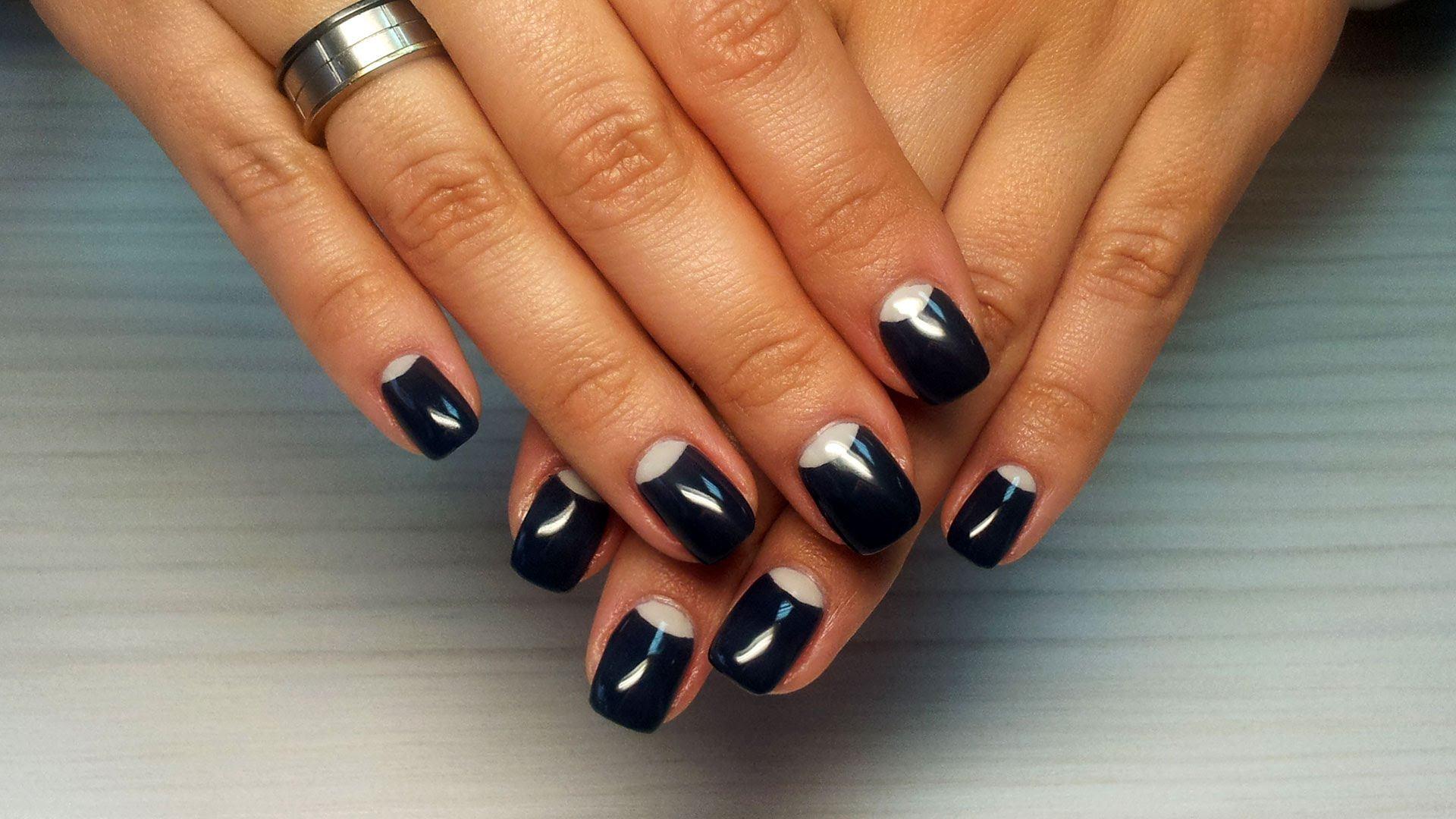 Короткие Нарощенные Ногти Дизайн Фото