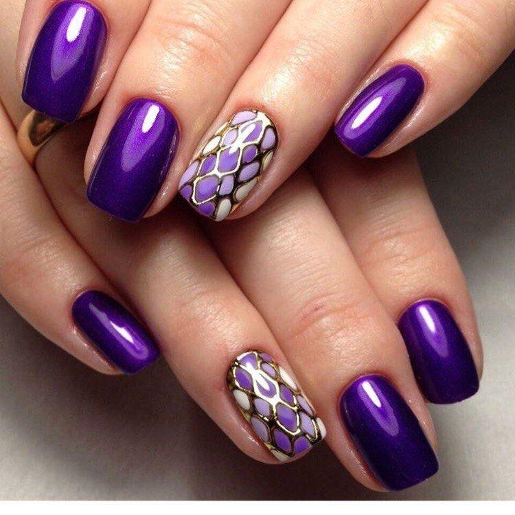 манікюр фото фіолетовий