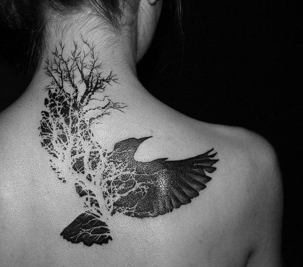 черно-белые татуировки фото