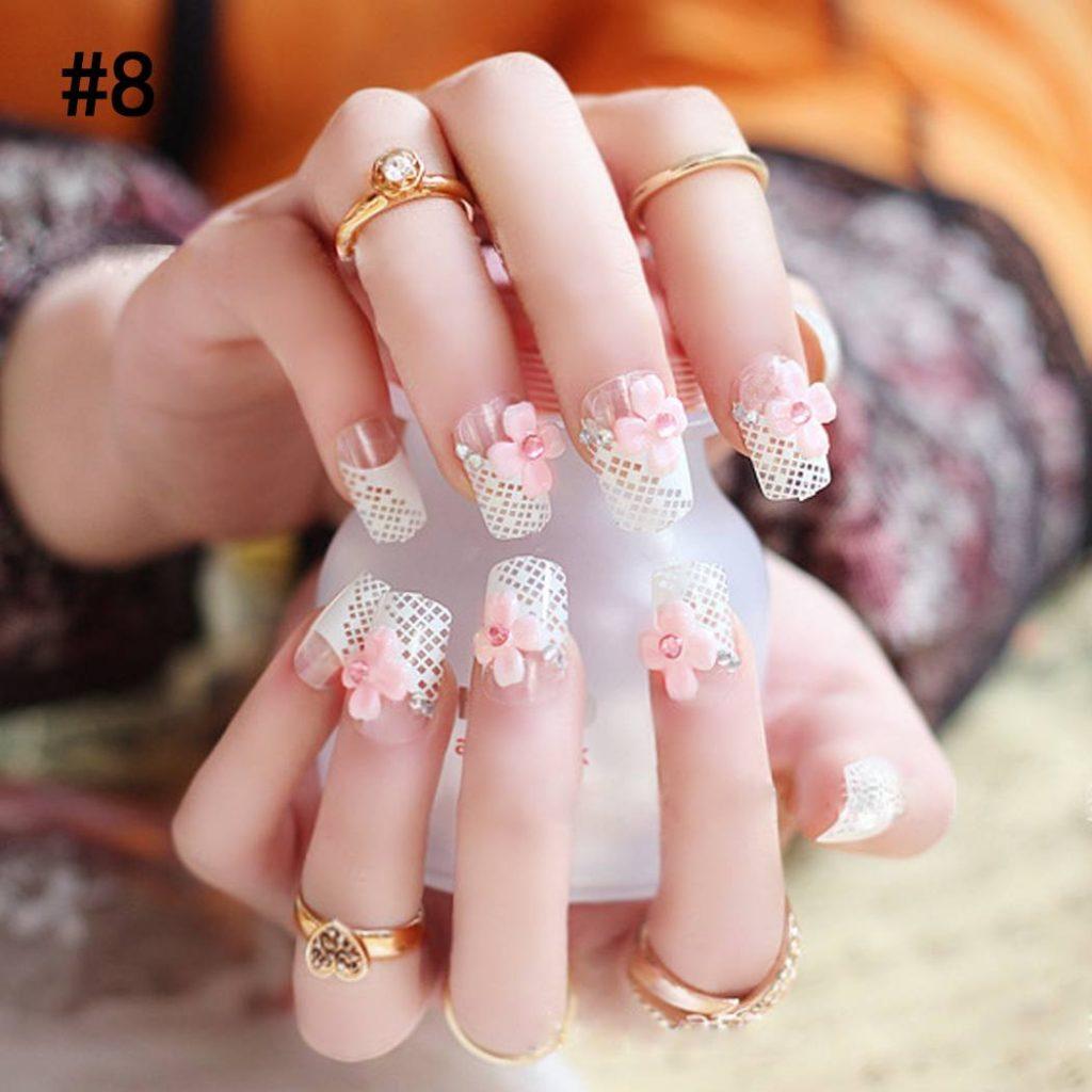 Показать дизайн накладных ногтей фото