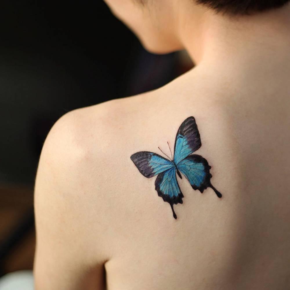 Картинки наколка бабочка