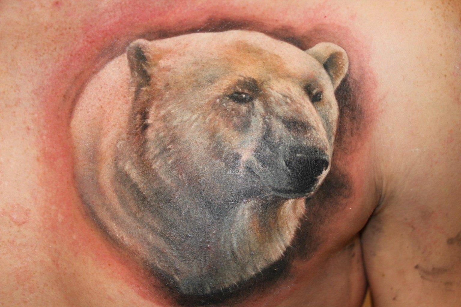 людей картинки наколки с белым медведем всегда