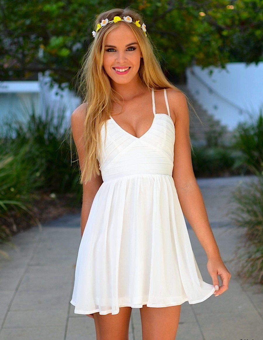 фото платье лето белое увеличения жилой