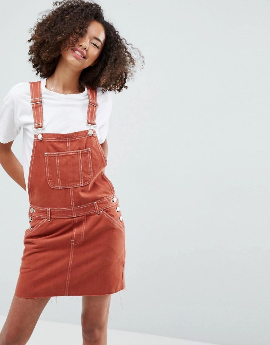 29a596ecd101 Модные джинсовые сарафаны  100+ новинок, фасонов и сочетаний