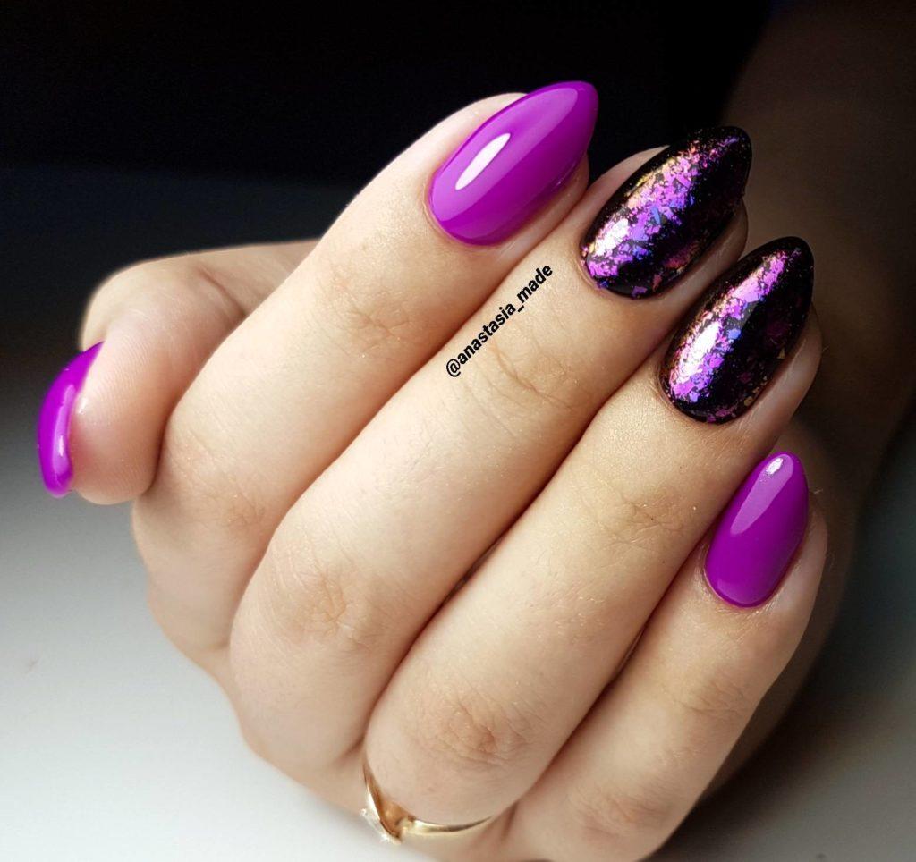 Фиолетовый маникюр (100 фото): сочетание цветов, модные нови