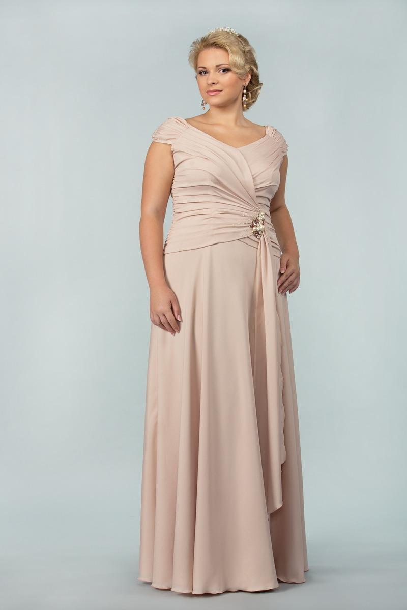 46429e033327 Вечерние платья для полных: 100+ фото красивых моделей и фасонов