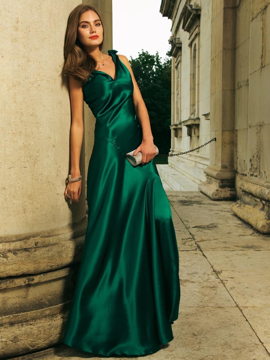 309a842582b Атласное платье  100+ роскошных вариантов