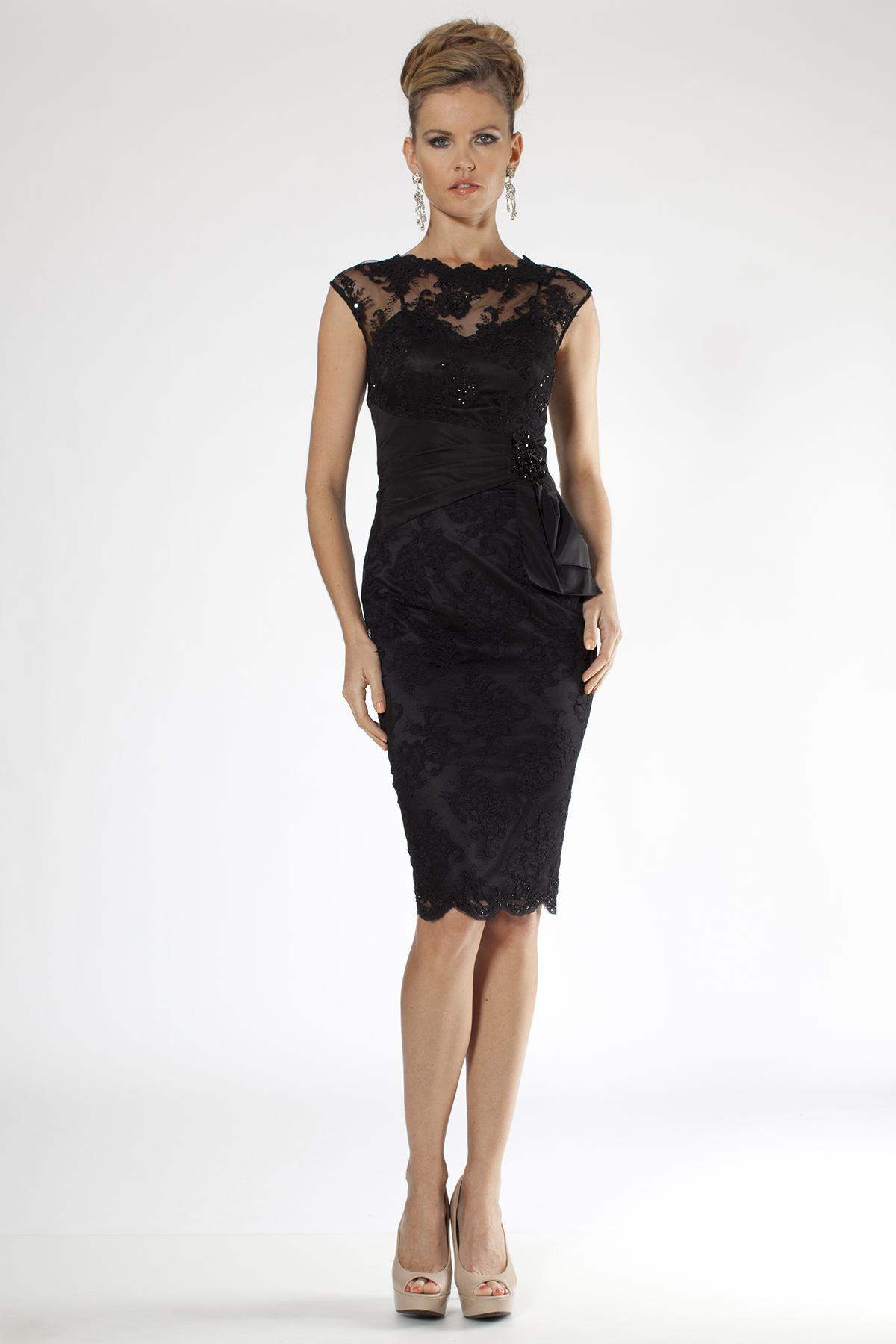 2b6f5a1b625 Черные кружевные платья  100+ вариантов шикарных фасонов и сочетаний