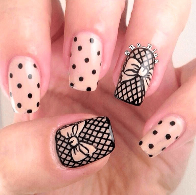 100 ярких идей маникюра в горошек: простые способы создания точек на ногтях