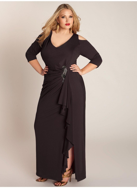 135cbbd0e 70 Chic Vestidos de noche para mujeres gordas: modas a la moda y ...