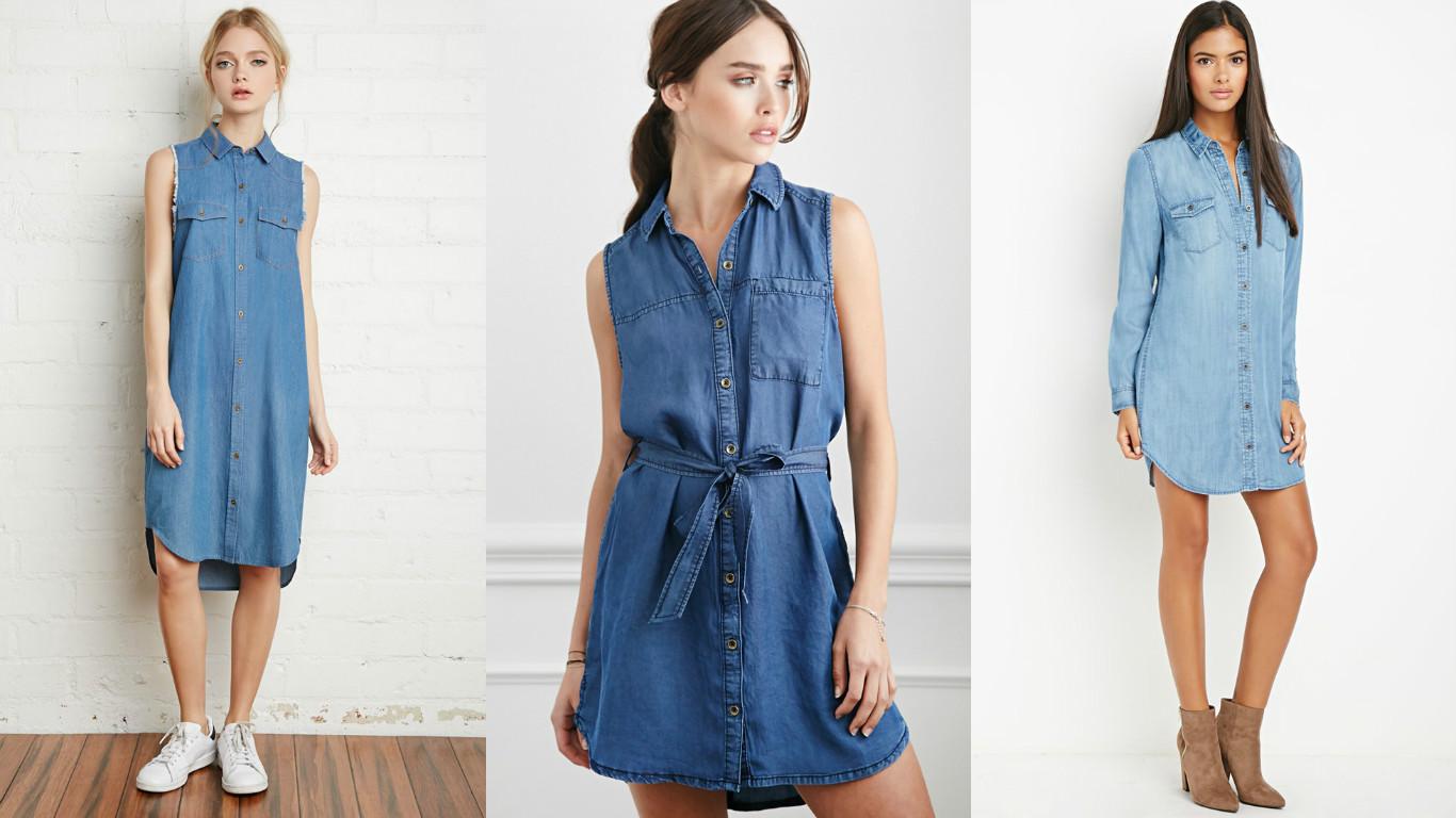 eb88ffef19a При всей популярности джинсовых платьев у современных модниц по-прежнему  остается масса вопросов  как подбирать модель