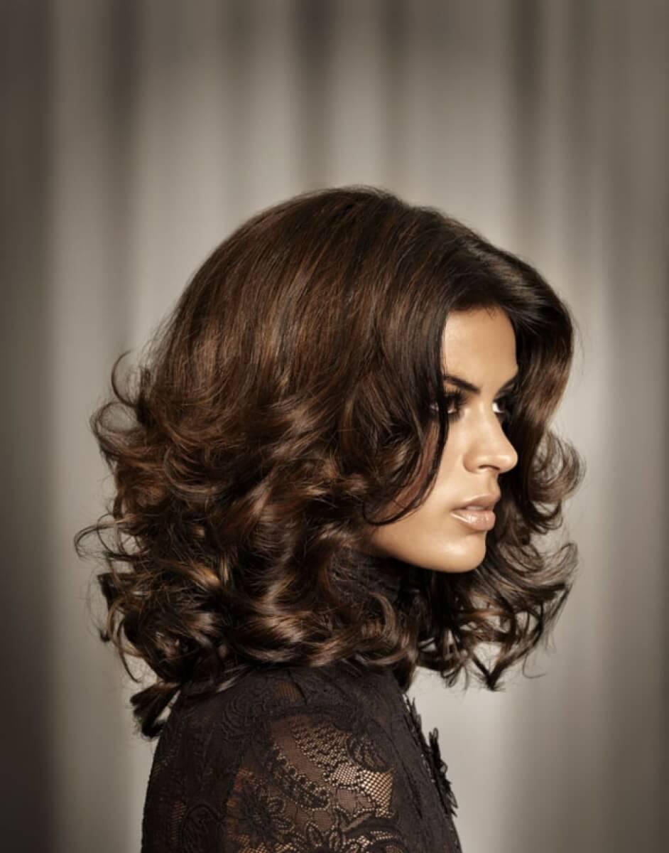 красивые укладки на средние волосы фото для