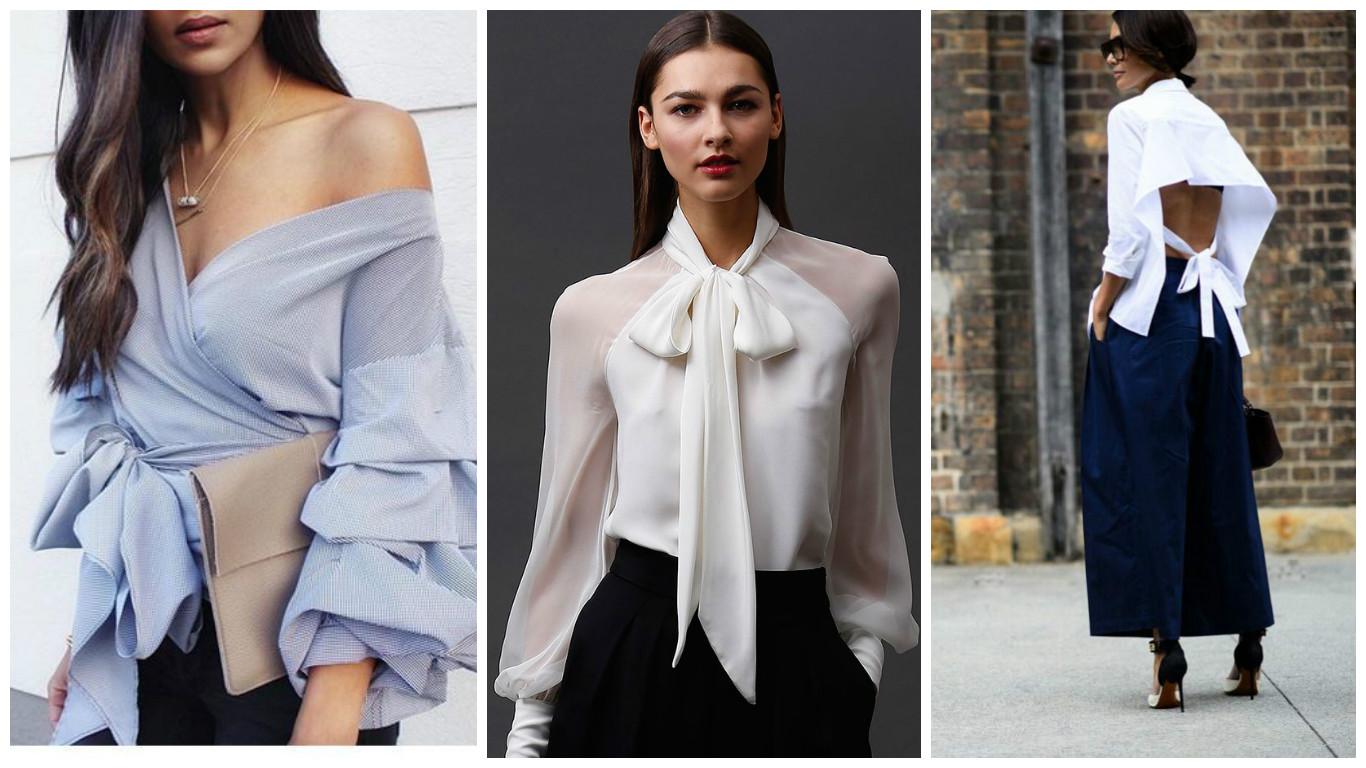 d96985e1e67 Женские блузки ОСЕНЬ-ЗИМА 2018-2019  модные тенденции и тренды