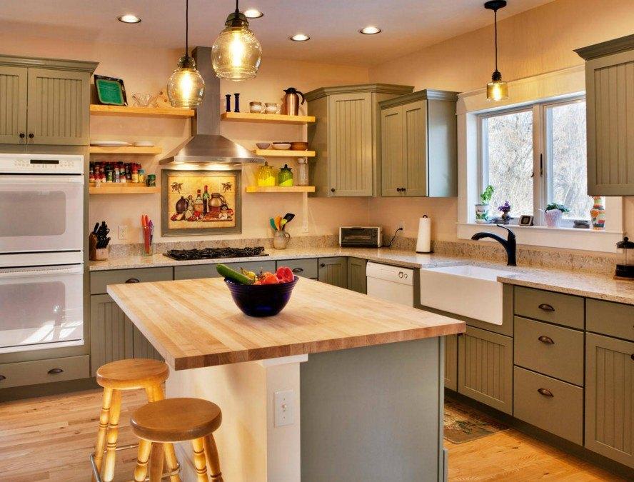 Helle Modulare Malereien In Der Küche