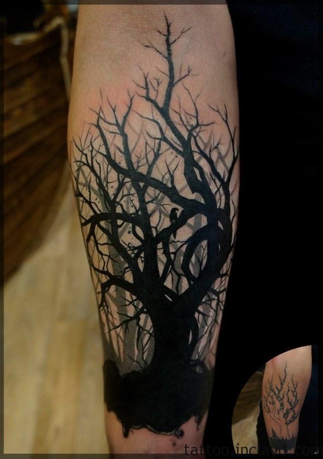 лес на руке