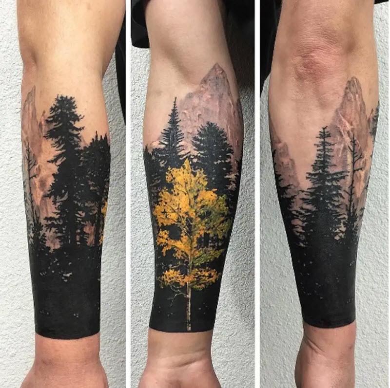 мужской рукав лес