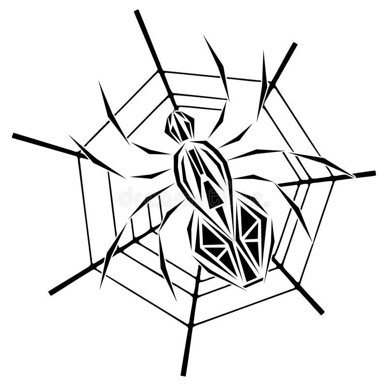паук в паутине эскиз