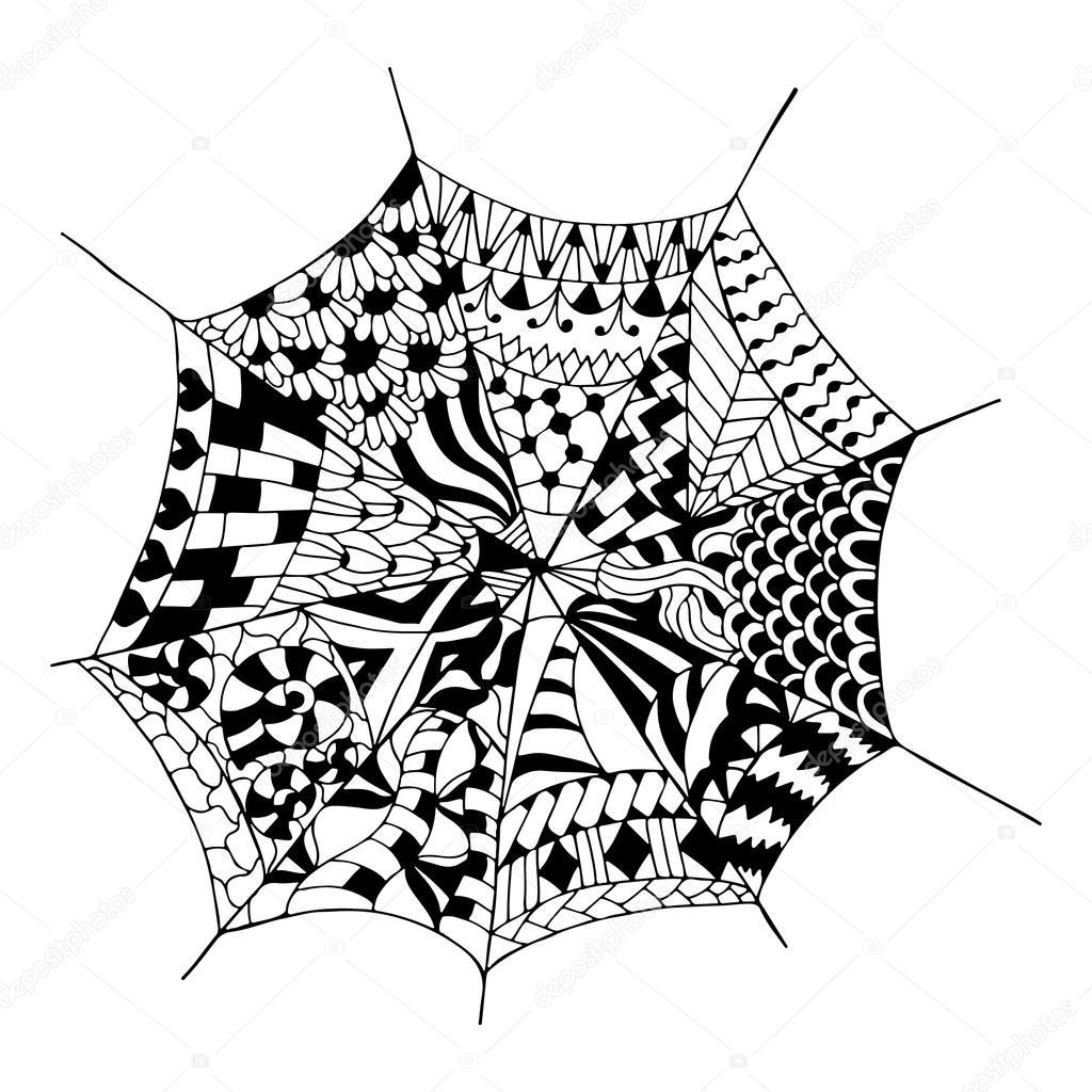 рисунок для тату паутины