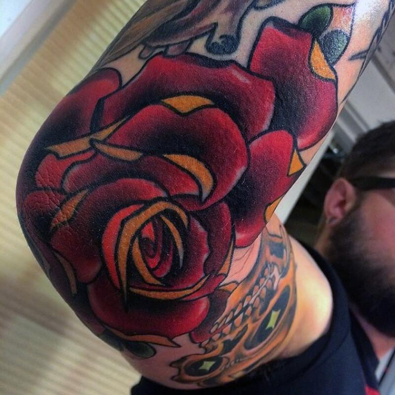 роза на локте