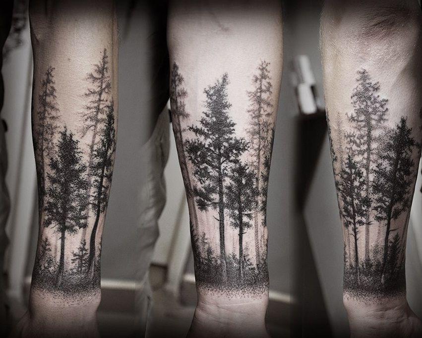 тату деревья