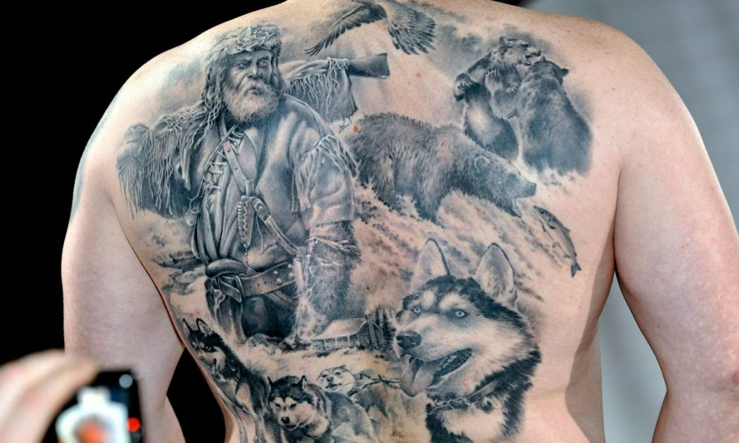 тату-картина на спине