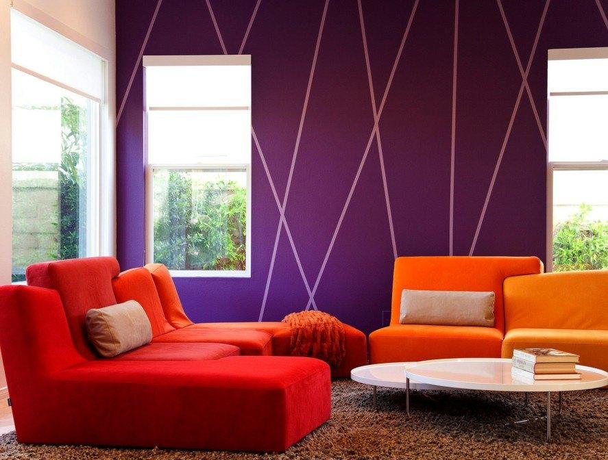 дизайн покрасок стен картинки