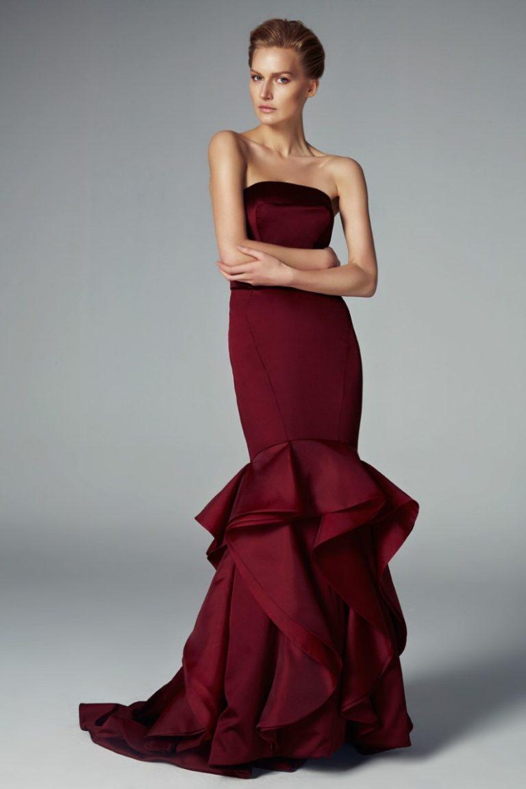44a5d2130 Vestido burdeos a la moda: 70 + imágenes encantadoras y femeninas