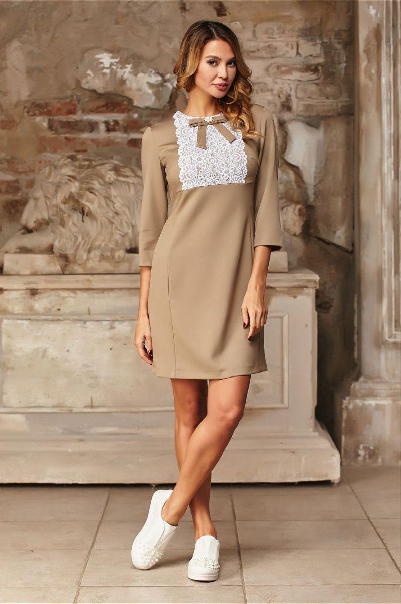 4e4deae3a15 Коричневое платье  100 модных новинок