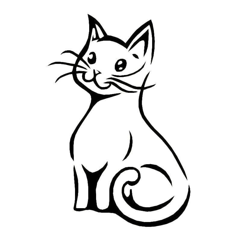Картинки тату эскизы кошек