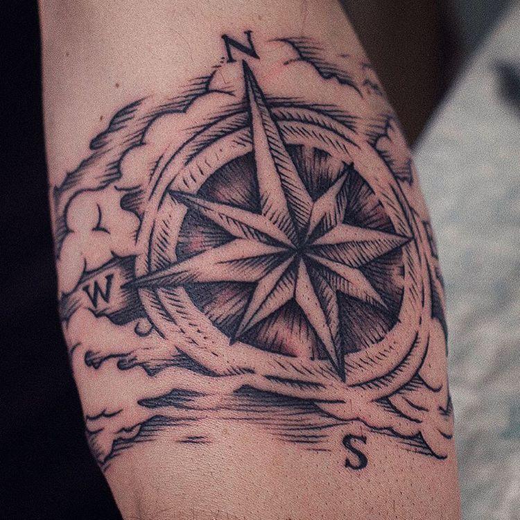 фото тату компас роза ветров теннис более динамичен