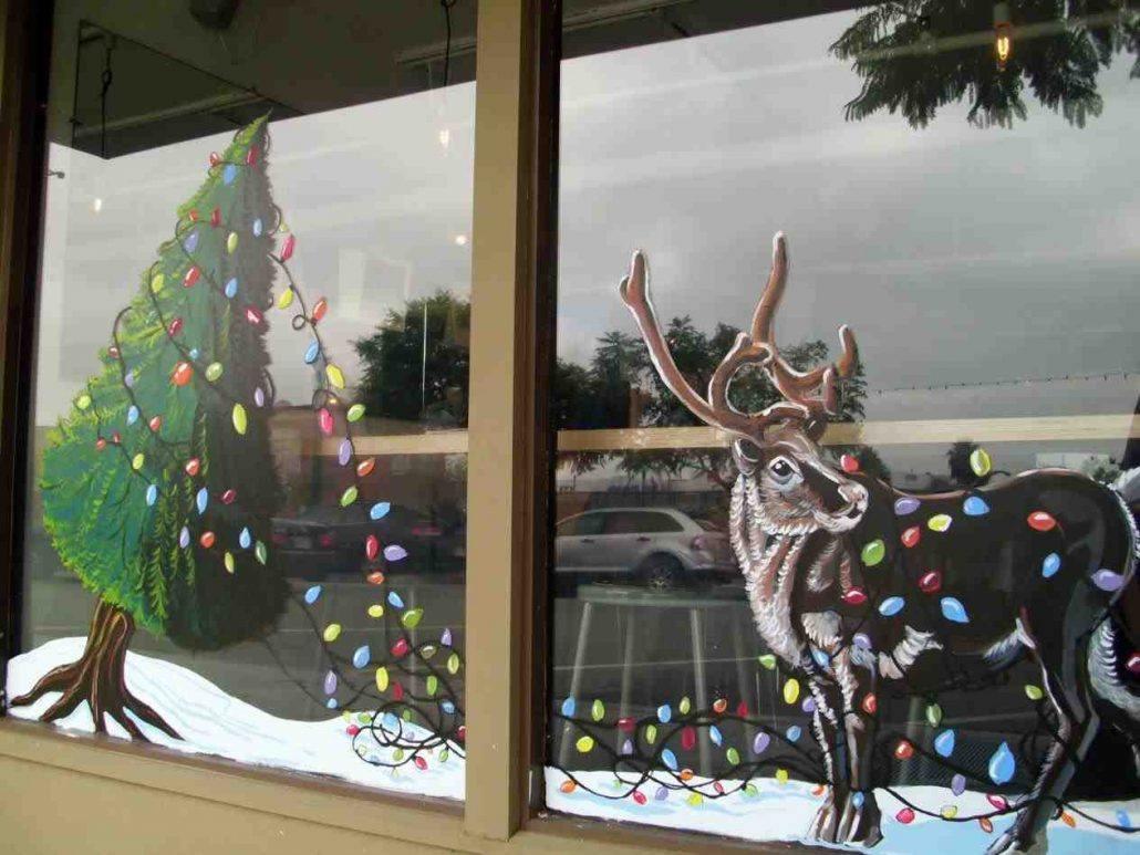 Картинки оформление окна к новому году рисунок