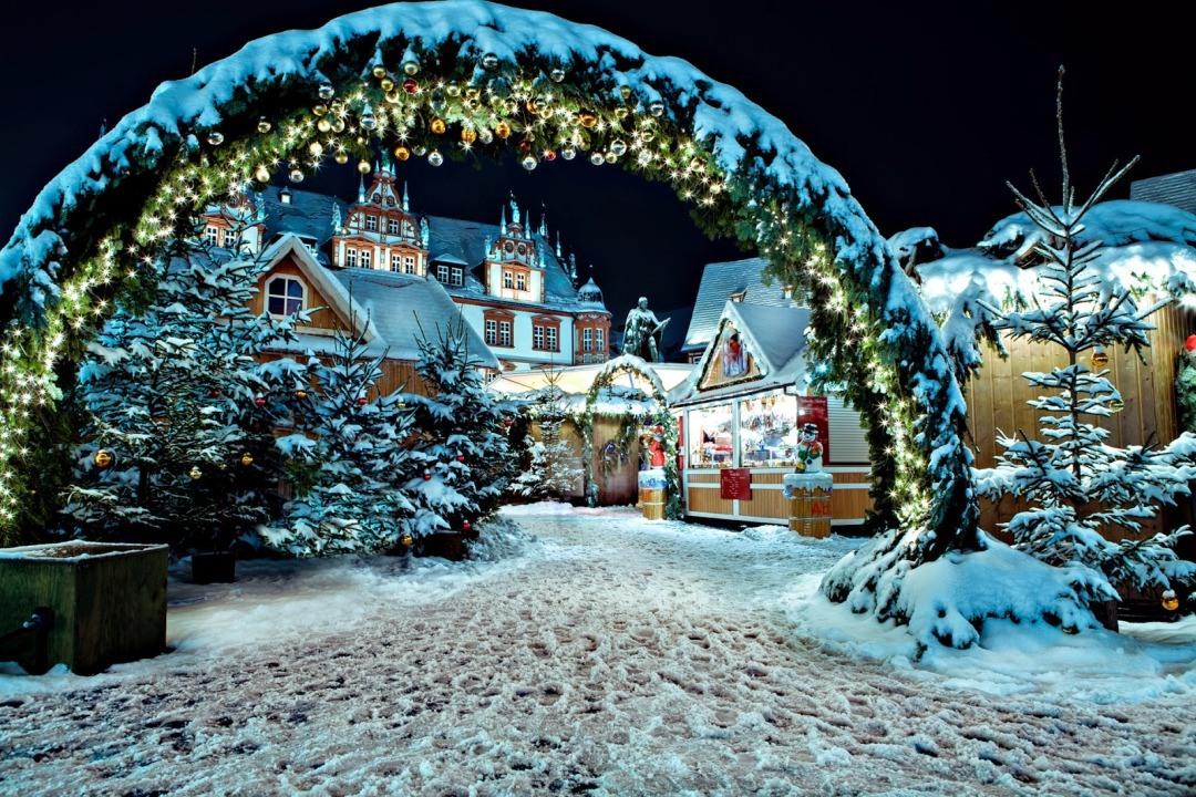 Немецкие рождественские картинки, открытка отдыхающим