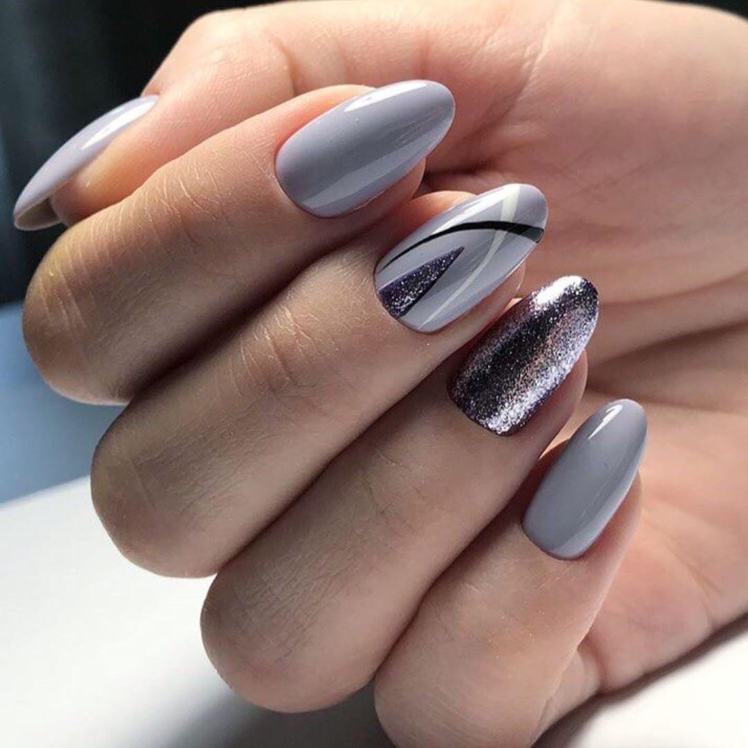 При оформлении такого дизайна допускается сочетать серый с розовым либо чередовать светлые тона с темными.