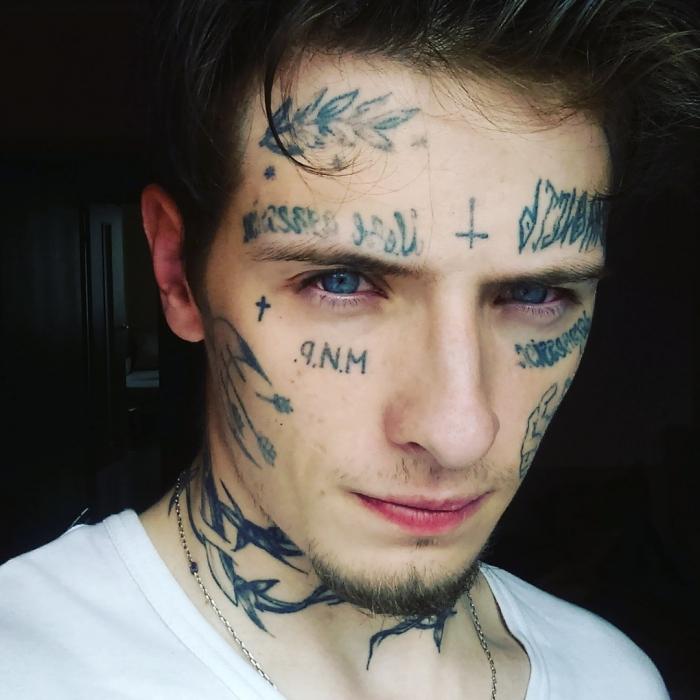 Facial tattoo 15