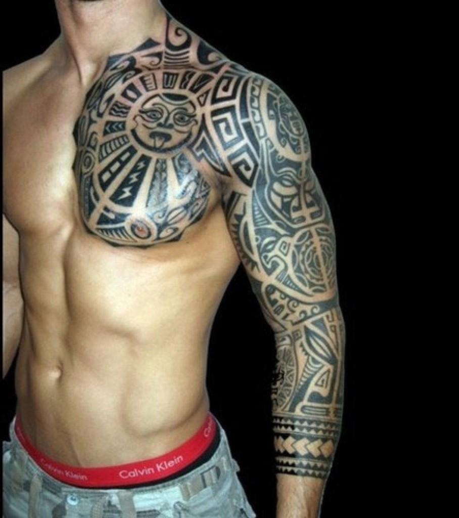 Trend полинезийские тату рукав