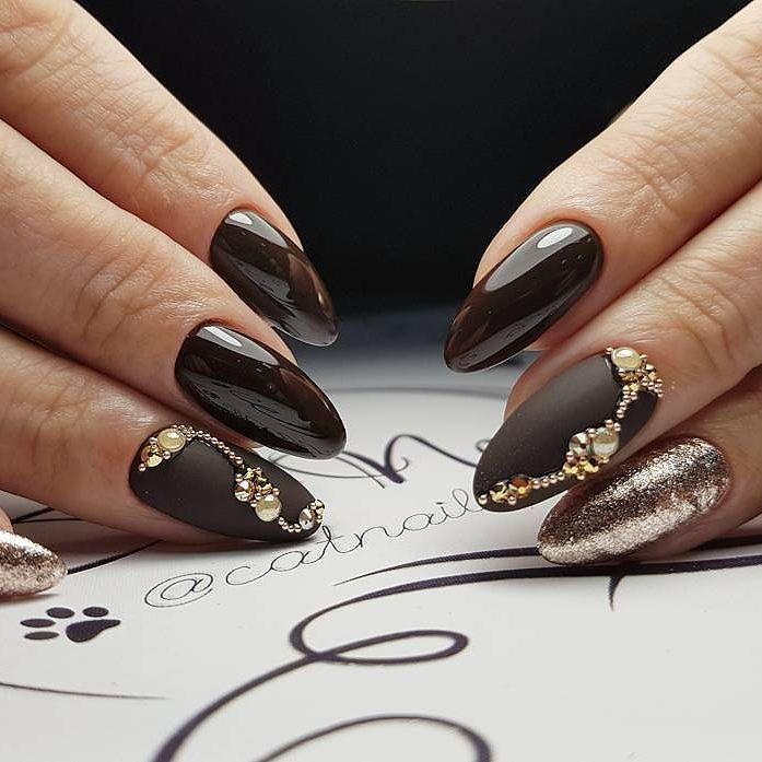 работы фотографией шоколадный дизайн ногтей фото простой удобный