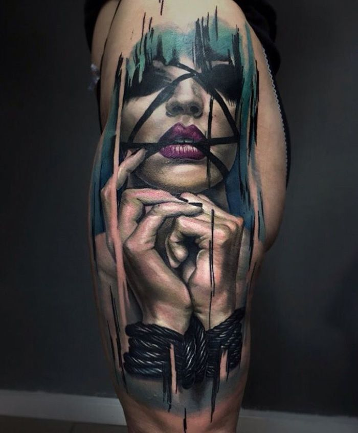 Big Tattoo Planet Bondage