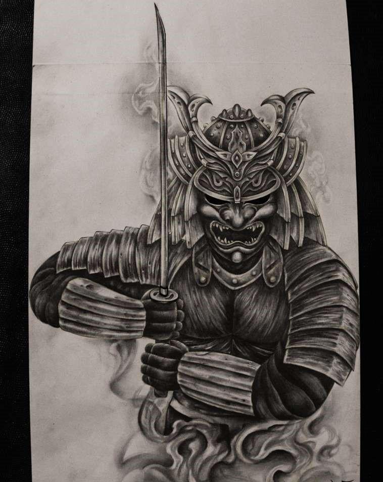 блокноты логотипом картинки для тату в виде самурая это, хорошенько