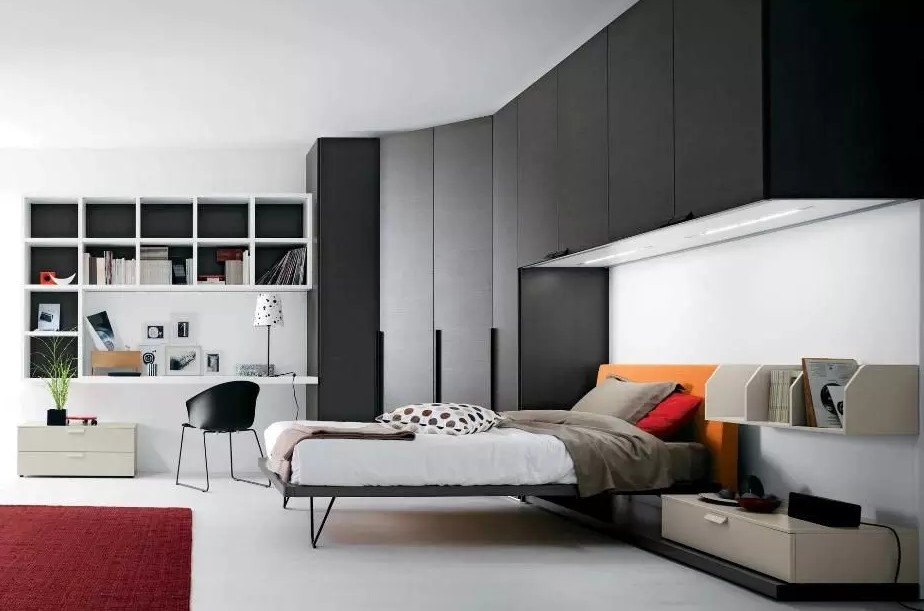 Угловые шкафы в спальню 49 фото идеи дизайна большого спального гарнитура с зеркалом