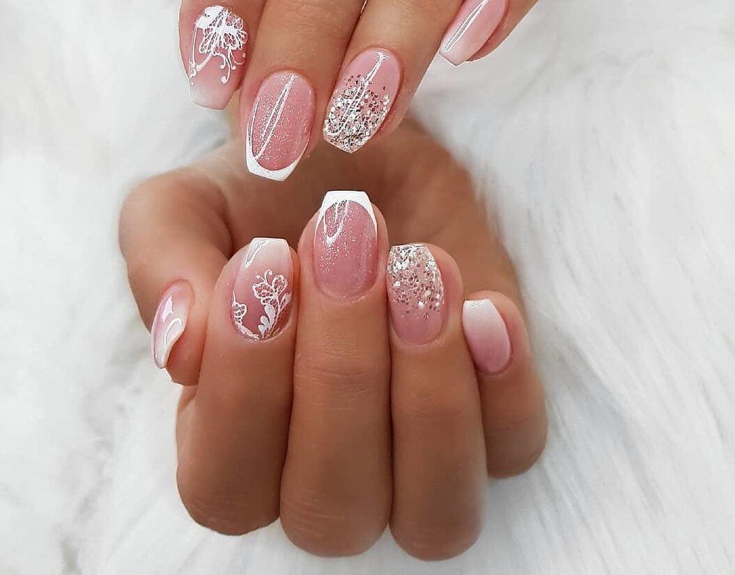 Зимние френчи на ногтях фото рубрика